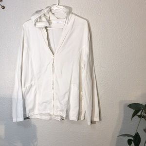 Fresh Produce White Jacket Large